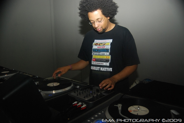 Deephunk playing the part of DJ