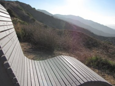 Bench on the crest of the Verdugos