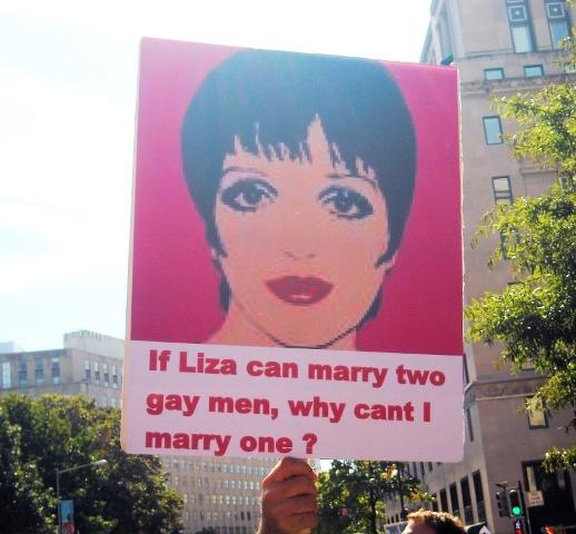 liza minnelli equality march
