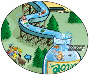 bottled water slide nobrowcartoons