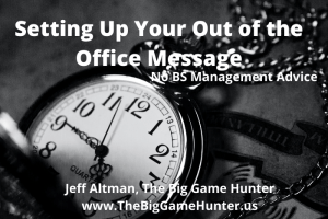 Setting Up Your Out of the Office Email Message