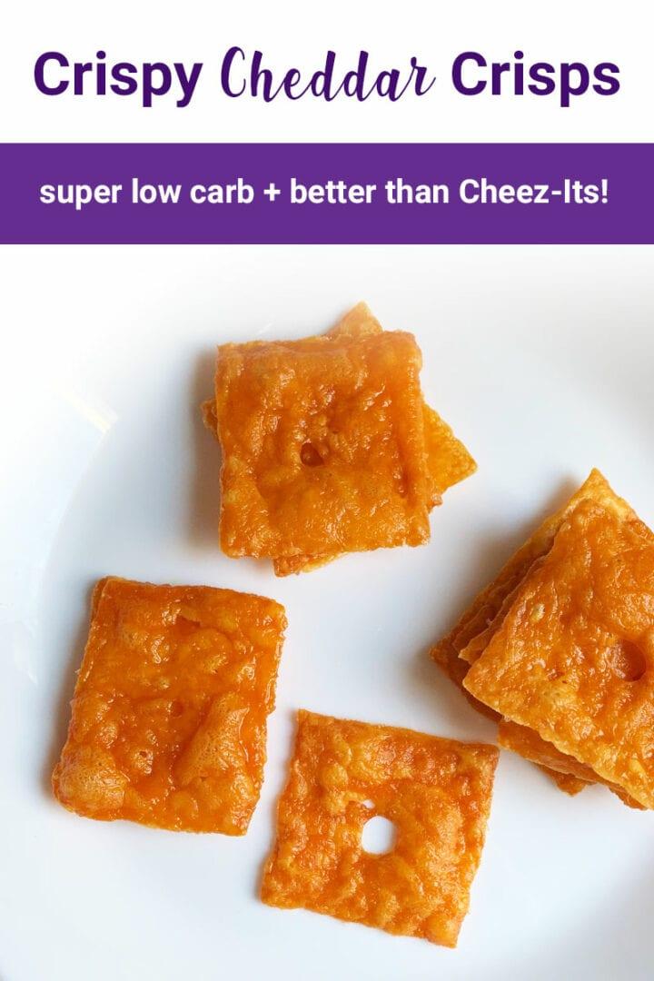 Crispy Cheddar Crisps from NoBunPlease.com