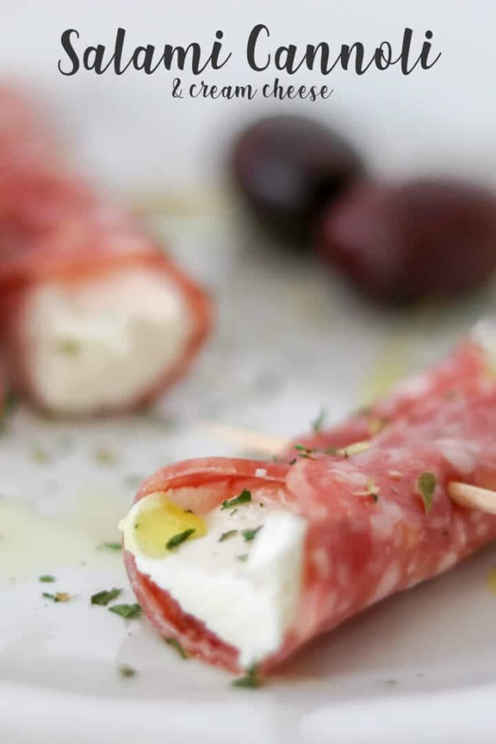 Salami & Cream Cheese Cannoli