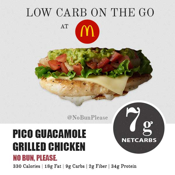 Keto Pico Guacamole Chicken at McDonald's