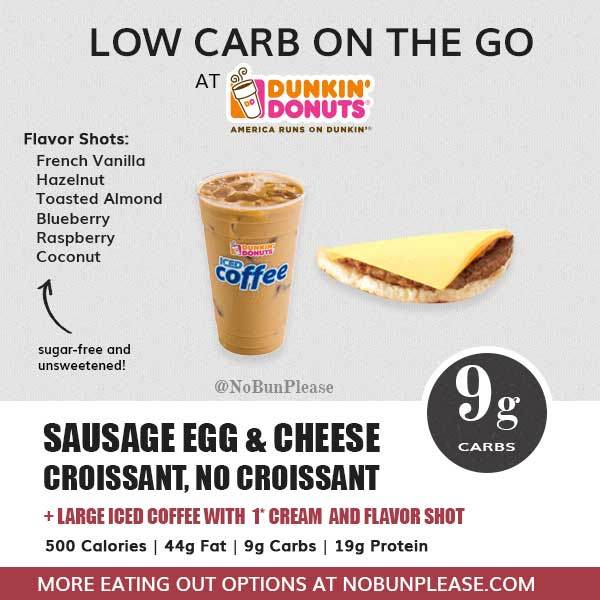 Keto and Low Carb Options at Dunkin Donuts