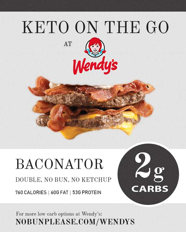 Low Carb Fast Food at Wendy's