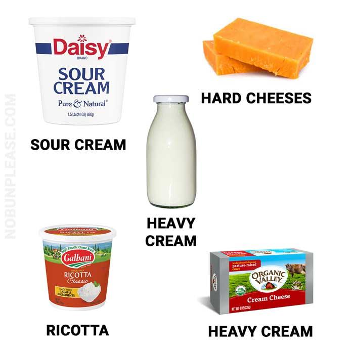 Keto Dairy Sources