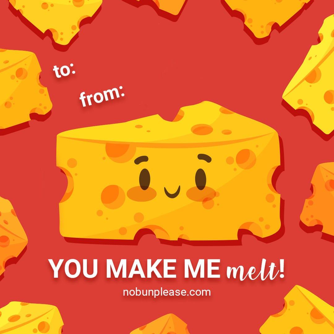 """Keto Valentine: Cheese - """"You make me melt!"""""""