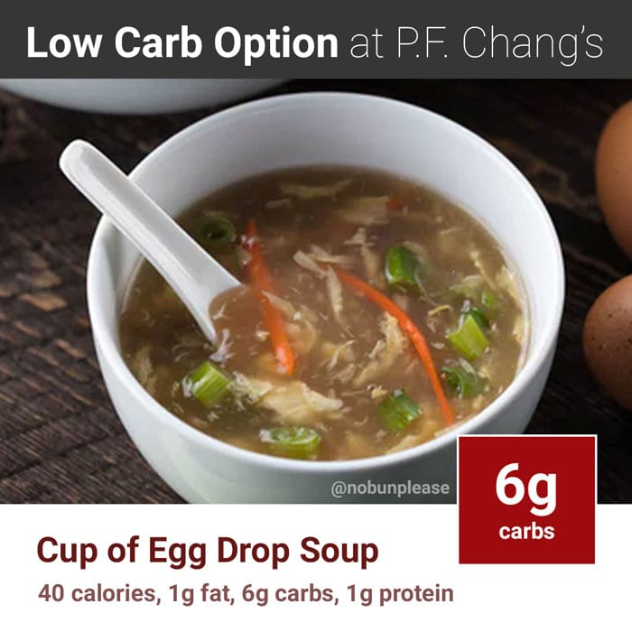 P.F. Chang's Keto Option: Cup of Egg Drop Soup