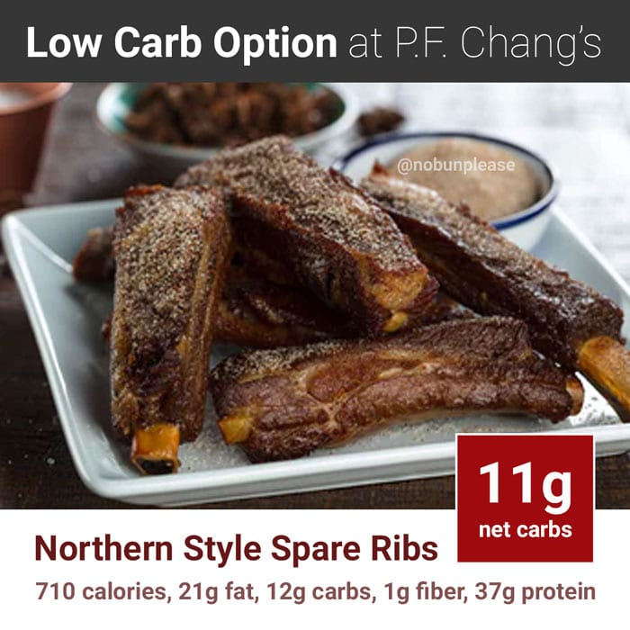 P.F. Chang's Keto Meal: Northern Style Spare Ribs