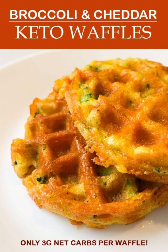 Keto Waffle Recipe with Broccoli & Cheddar