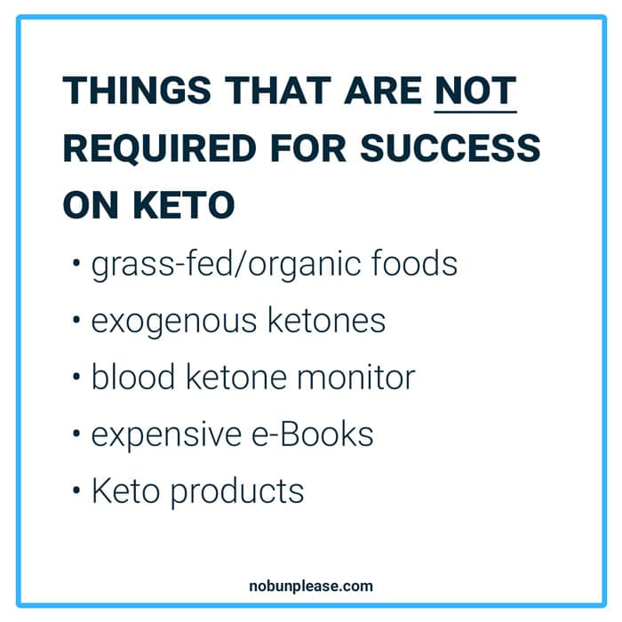 Not required for Keto