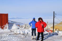 Antarctic Explorers Britney and Catherine doing Roald Amundsen proud