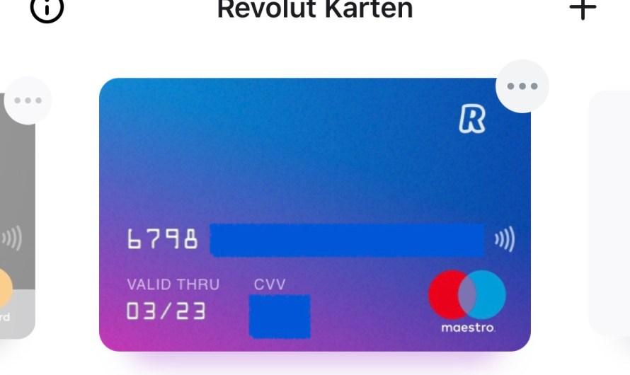 Revolut bietet ab sofort Maestro-Karte als Option an