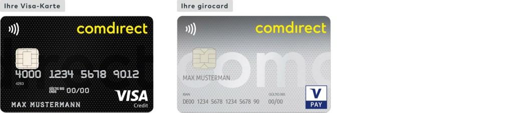 VISA Credit und girocard/VPay Debit von der comdirect