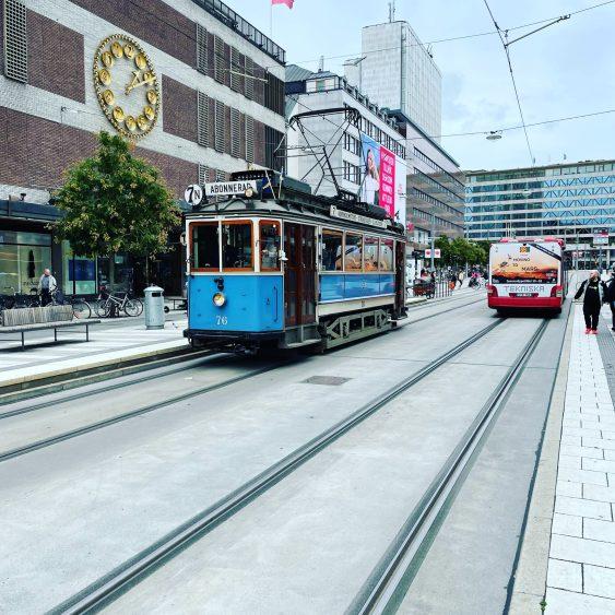 Etwas historischer Schienenverkehr - Tram 7N