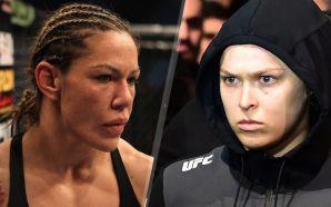 Cris Cyborg (esq) e Ronda Rousey (dir) / foto: Fox Sports
