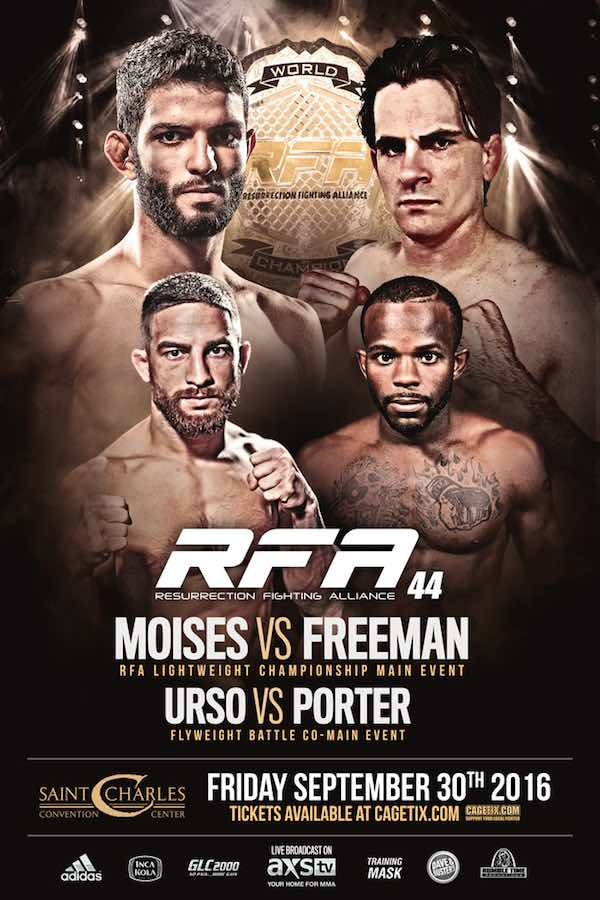 Pôster do RFA 44 (Foto: Low Kick MMA)