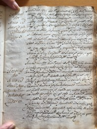 Marriage record of Rosario di Meco and Anna Margarita Domenica di Cesare