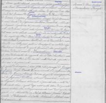 """Sample birth record for """"Stato civile italiano"""" for year 1869, non-form"""