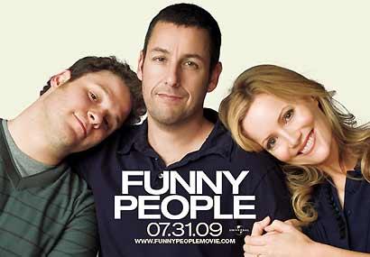 "Seth Rogen, Adam Sandler y Leslie Mann, en ""Hazme reír"""