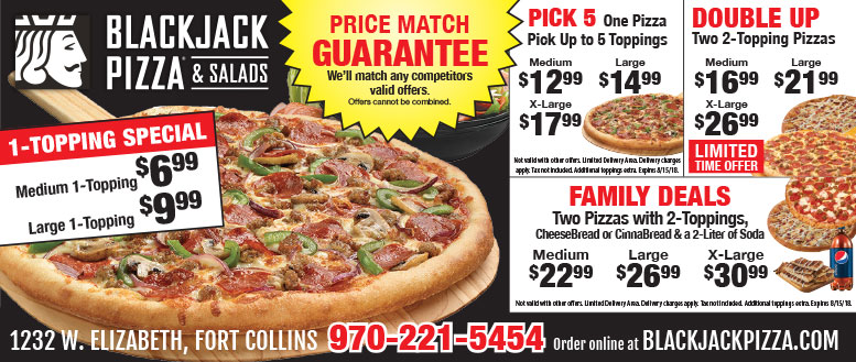 Blackjack Pizza Limited Time Offers