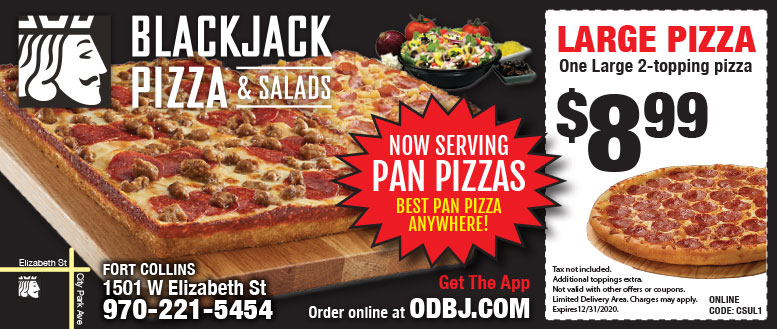 Blackjack Pizza Coupons