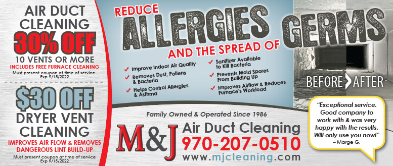 M&J Air Duct Cleaning Coupons