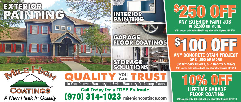 Mile High Coatings House Painting Coupons