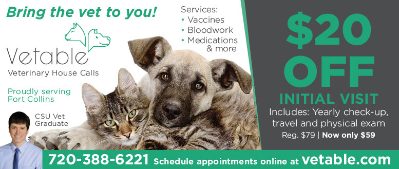 Vetable Mobile Vet Visit Coupon