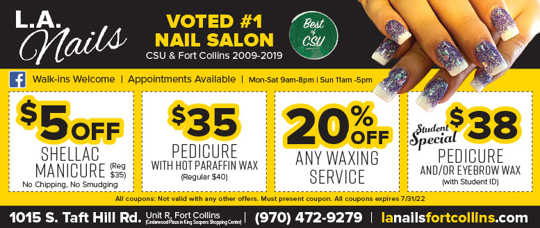 LA Nails Salon Waxing Coupons