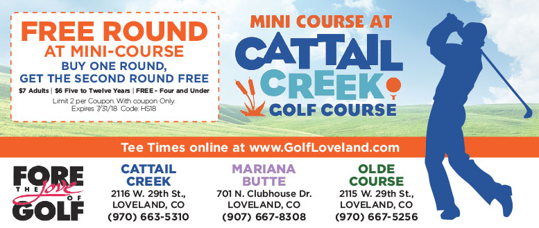 Loveland Golf - Cattail Creek - Free Round Coupon