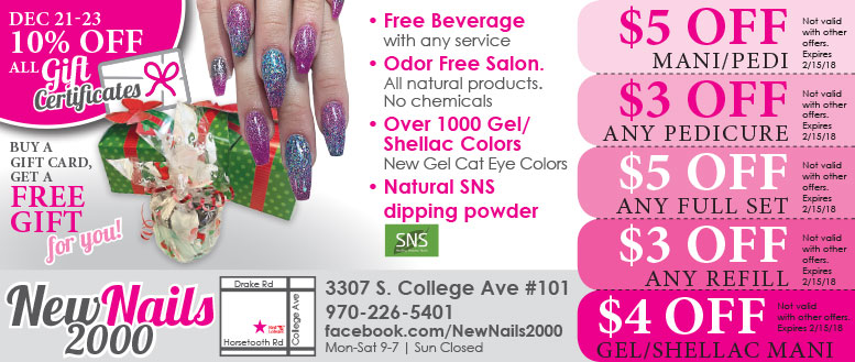New Nails 2000 Salon Beauty Spa Coupons