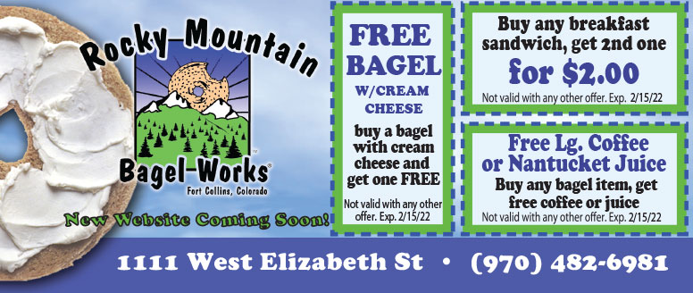 Rocky Mountain Bagel Works Coupons - Free Coffee or Nantucket Juice