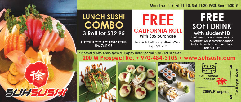 Suh Sushi Fort Collins Coupons