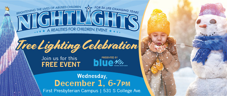 Realities For Children Night Lights Tree Lighting Celebration