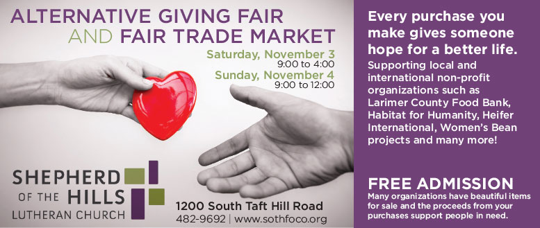 Shepherd of the Hills Giving Fair and Fair Trade Market Event