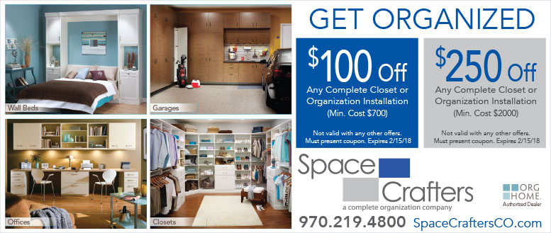 Space Crafters - Get Organized Coupon Deals up to $250 Off
