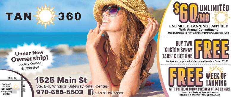 Tan 360 Tanning Salon Coupon Deals in Windsor, CO
