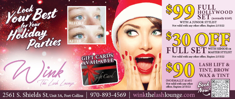 Wink The Lash Lounge Coupon Deals in Fort Collins - Lashes and Brow Wax & Tint