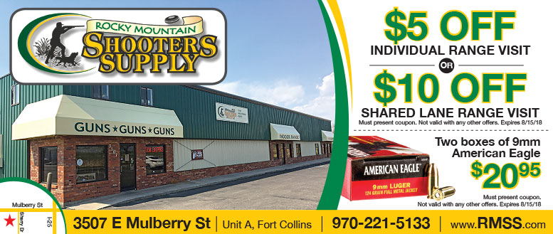 Rocky Mountain Shooters Supply Coupons - $10 Off Range Visit