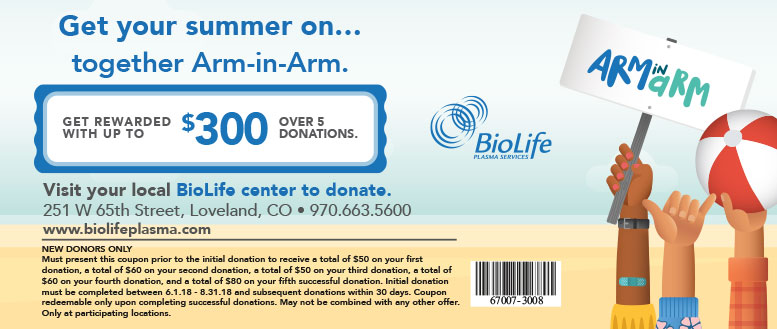 BioLife Plasma Services - Get Rewarded up to $300 for Donating