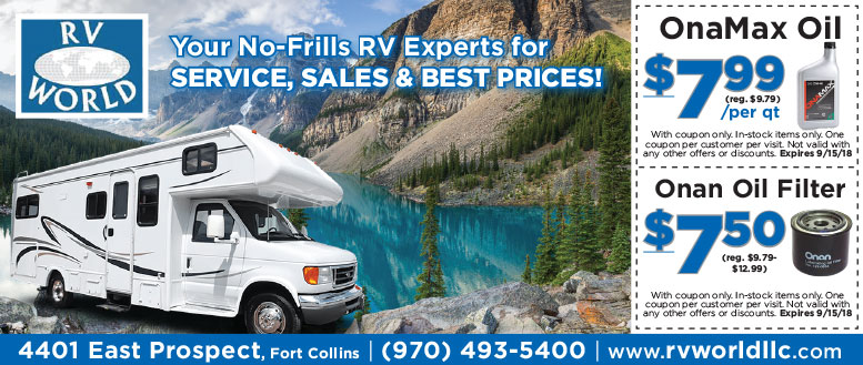 RV World Coupon Deals - Save on OnaMax Oil & Onan Oil Filters
