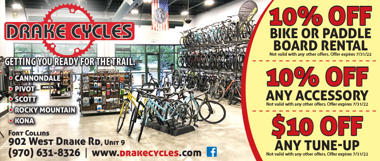 Drake Cycles in Fort Collins | 10% Off and Tune-up Coupon Deals