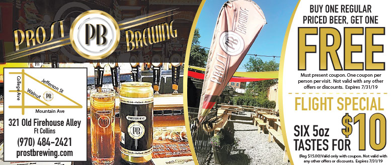 Prost Brewing in Fort Collins | BOGO Beers or $10 Flight Special Coupon Deals