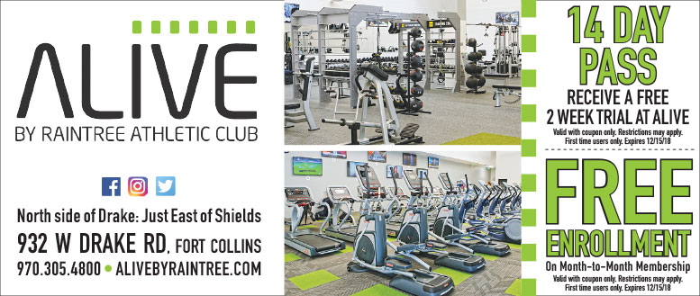 Alive by Raintree Athletic Club Coupons - Free Enrollment or Free Trial