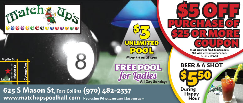 Match Ups, Fort Collins Coupon Deals - $3 Unlimited Poll