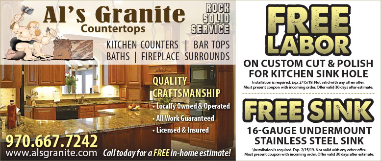 Al's Granite Countertops Sink and Labor Coupons