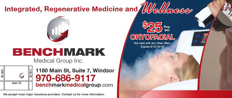 BenchMark Medical Group - 25% Off Cryofacial Coupon Deal