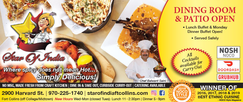 Star of India Restaurant - 50% Off Entree Coupon Deal in Fort Collins